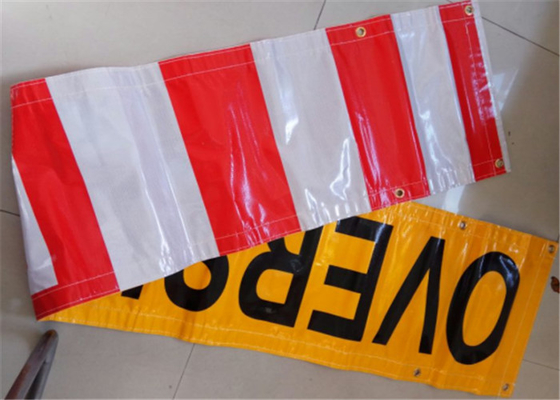 China Outdoor Custom Made Vinyl Banners Printed Yellow Black For Business supplier