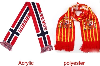 China Champions League Fan Scarf Professional Personalized Decorative Jacquard Style supplier