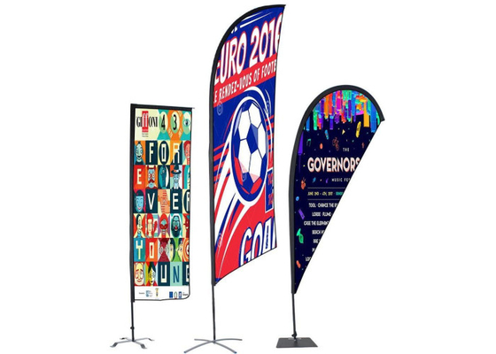 China Personalised Outdoor Promotional Flags And Banners Advertising Usage BSCI Certification supplier