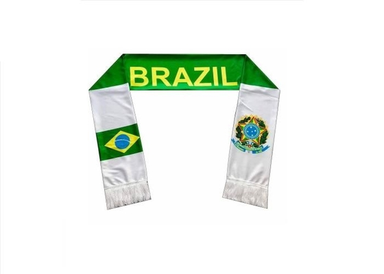 China Polyester Satin Printing Sports Team Scarves , Promotional Custom Sports Scarves supplier