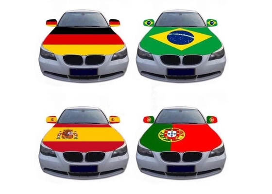 China Russia Steelers Car Hood Cover Flag World Cup Type Waterproof Polyester supplier