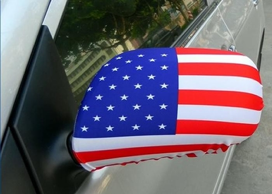 China National Flag Rear Mirror Cover / Durable Colorful Auto Side Mirror Covers supplier