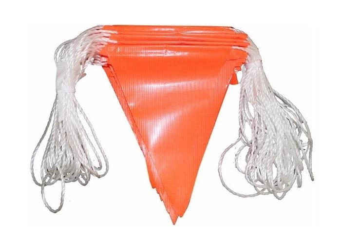 Yellow Safety Pennant String Flags Orange Waterproof