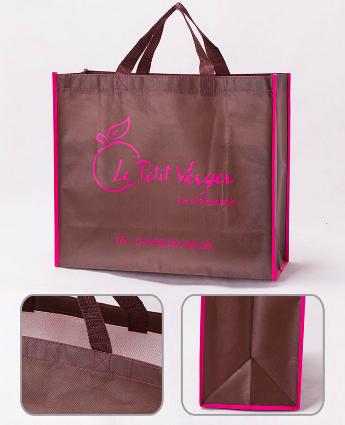 Polyester Or Cotton Non Woven Grocery Bags Gravure Printing For Easy Storage And Travel Carry