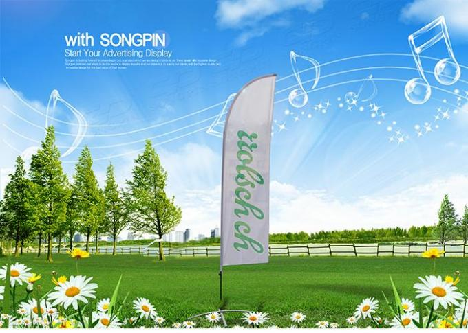 Personalised Outdoor Promotional Flags And Banners Advertising Usage BSCI Certification