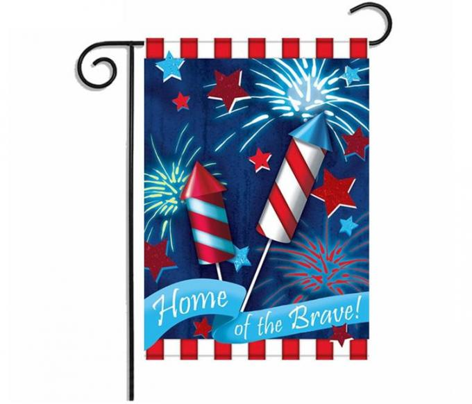 Double Sides Personalized Advertising Flags Various Theme Dust Cover For Garden