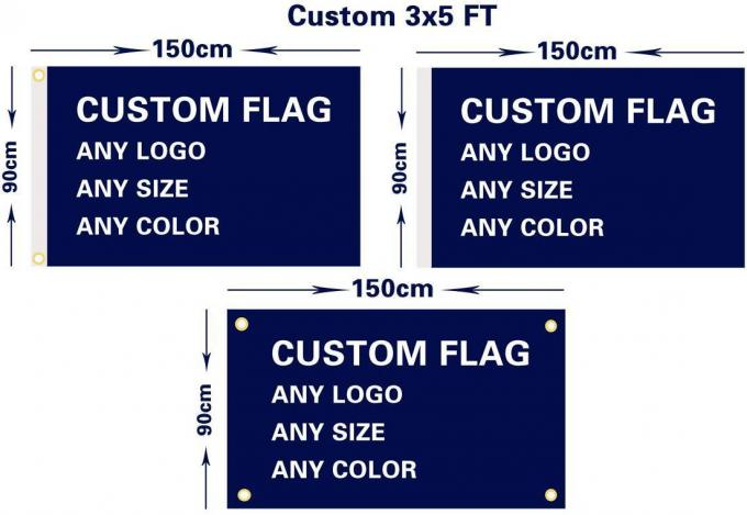 Promotional Custom Polyester Flags , 100D Russia National Flag 90*150cm
