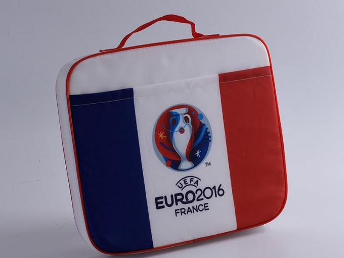 Promotional Printed Drawstring Bags / Football Fans Seat Cushions For Advertising