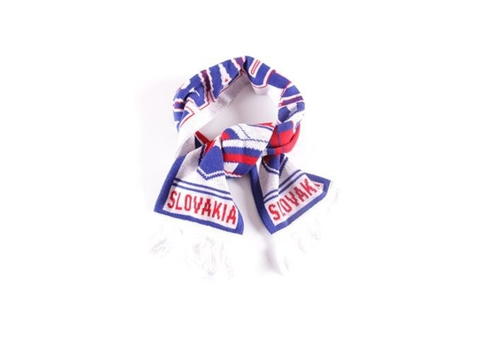 European World Cup Scarf , Embroidered Red And Blue Team Usa Soccer Scarf