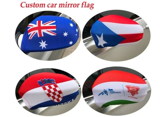 Heat Transfer Printing Rear View Mirror Cover With Spandex Elastic Elements